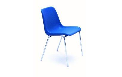 chaises coque plastique pietement chrome caray collectivit s. Black Bedroom Furniture Sets. Home Design Ideas